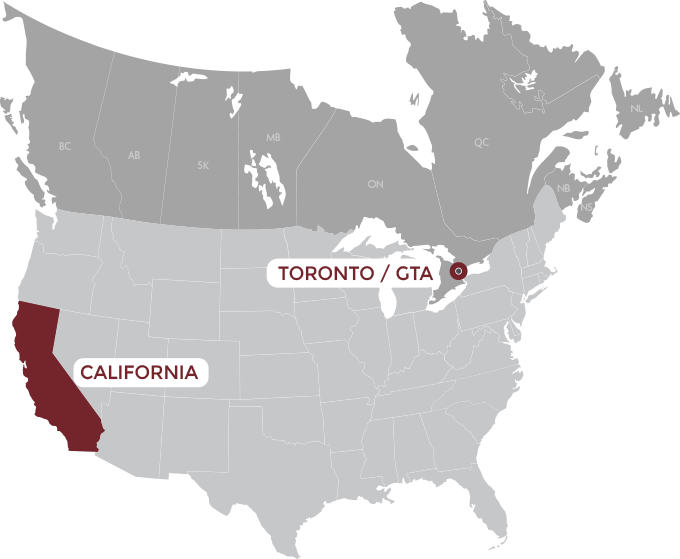 Map Of Toronto Canada And Usa Ideal Logistics | Transportation service map | Toronto, Montreal